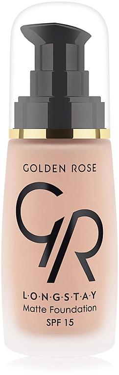 Langanhaltende mattierende Foundation LSF 15 - Golden Rose Longstay Matte Foundation SPF 15