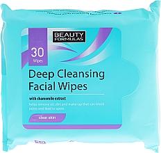 Düfte, Parfümerie und Kosmetik Feuchtigkeitstücher für das Gesicht 30 St. - Beauty Formulas Deep Cleansing Facial Wipes