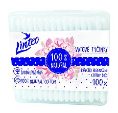 Düfte, Parfümerie und Kosmetik Wattestäbchen 100 St. - Linteo Biodegradalne 100% Natural
