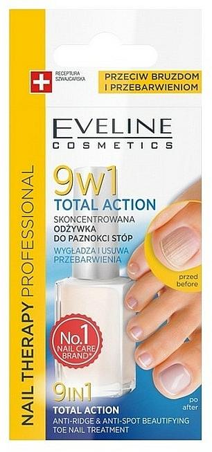 Intensivkur für Zehennägel 9in1 - Eveline Cosmetics Nail Therapy Total Action 9in1