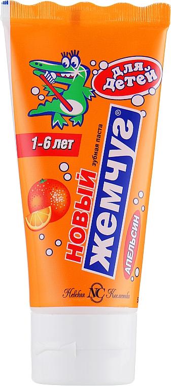 Kinderzahnpasta 1-6 Jahre mit Orangengeschmack - Neue Perle