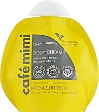 Düfte, Parfümerie und Kosmetik Tief feuchtigkeitsspendende Körpercreme mit Traubenkernextrakt und Avocadoöl - Le Cafe de Beaute Cafe Mimi Deep Hydration Body Cream