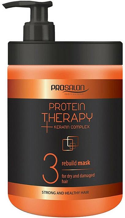 Haarmaske für trockenes und strapaziertes Haar mit Keratin - Prosalon Protein Therapy + Keratin Complex Rebuild Mask