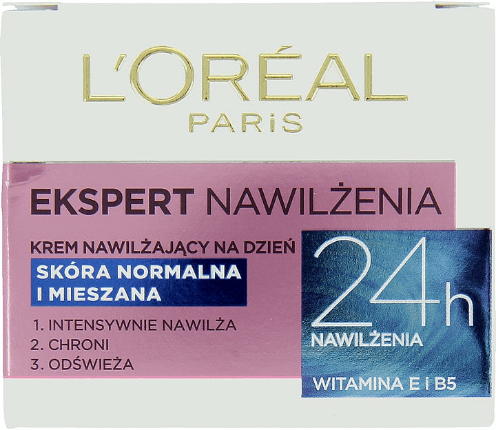 Intensiv feuchtigkeitsspendende und erfrischende Tagescreme für normale und Mischhaut - L'Oreal Paris Face Cream