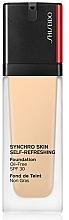 Düfte, Parfümerie und Kosmetik Revitalisierende und erfrischende Foundation SPF 30 - Shiseido Synchro Skin Self-Refreshing Foundation SPF 30