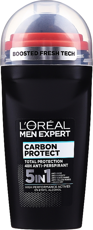 4in1 Deo Roll-on Antitranspirant - L'Oreal Paris Men Expert Carbon Protect AntiPerspirant Intense Ice Deo Roll-On
