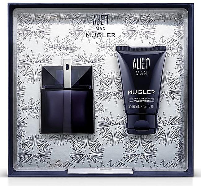 Mugler Alien Man Gift Set - Duftset ( Eau de Toilette/50ml+Körpershampoo/50ml)