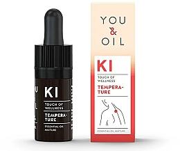 Düfte, Parfümerie und Kosmetik Bioaktive ätherische Ölmischung mit Mandelöl gegen Fieber - You & Oil KI-Temperature Touch Of Welness Essential Oil