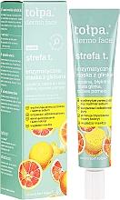 Düfte, Parfümerie und Kosmetik Enzymatische Gesichtsmaske mit blauer und weißer Tonerde - Tolpa Dermo Face Strefa T Face Mask