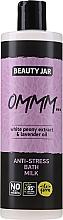 Düfte, Parfümerie und Kosmetik Anti-Stress Bademilch mit weißem Pfingstrosenextrakt und Lavendelöl - Beauty Jar Anti-Stresse Bath Milk