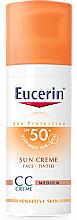 Düfte, Parfümerie und Kosmetik Getönte sonnenschützende CC Gesichtscreme SPF 50+ - Eucerin CC-creme Sunscreen for face SPF 50+
