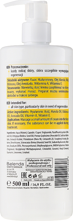 Pflegende Massagecreme für Gesicht mit Hyaluronsäure und Marulaöl - Bielenda Professional Face Program Nourishing Massage Face Cream — Bild N2