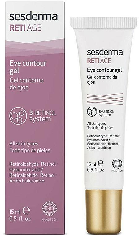 Augenkonturgel für alle Hauttypen mit Retinaldehyd, Retinol und Hyaluronsäure - SesDerma Laboratories Reti Age Facial Eye Contour Gel 3-Retinol System