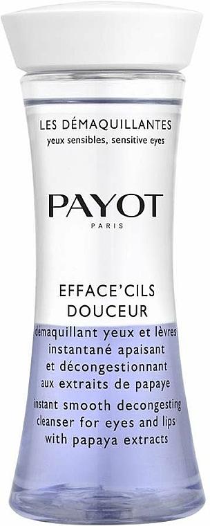 Zweiphasiger Make-up Entferner mit Papaya-Extrakt für Augen und Lippen - Payot Les Demaquillantes Efface Cils Douceur Instant Smooth Decongesting Cleanser