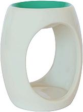 Düfte, Parfümerie und Kosmetik Keramik-Aromalampe weiß-grün - Airpure
