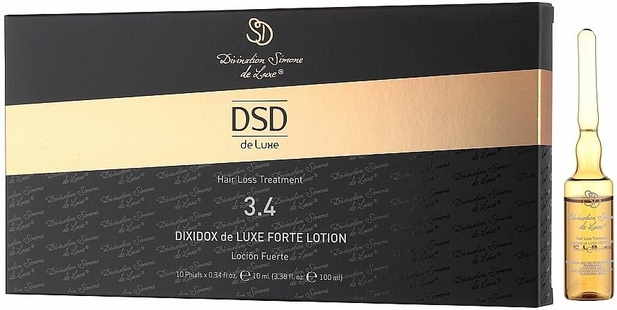 Lotion in Ampullen gegen Haarausfall und zum Wachstum № 3.4 - Divination Simone De Luxe Dixidox DeLuxe Forte Lotion