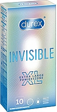 Düfte, Parfümerie und Kosmetik Kondome Extra groß 10 St. - Durex Invisible Extra Large