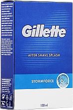 Düfte, Parfümerie und Kosmetik After Shave Lotion - Gillette Blue Storm Force After Shave Splash