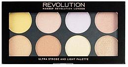 Düfte, Parfümerie und Kosmetik Highlighter-Palette - Makeup Revolution Ultra Strobe and Light Palette