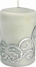 Düfte, Parfümerie und Kosmetik Dekorative Kerze grau 7x10 cm - Artman Christmas Ornament