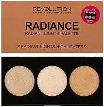 Düfte, Parfümerie und Kosmetik Highlighter-Palette - Makeup Revolution Highlighter Palette Radiance