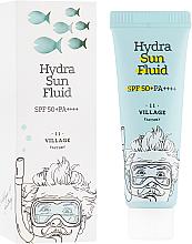 Düfte, Parfümerie und Kosmetik Aufhellendes und feuchtigkeitsspendendes Anti-Falten Sonnenschutzfluid für das Gesicht SPF 50+ - Village 11 Factory Hydra Sun Fluid SPF 50+ PA++++