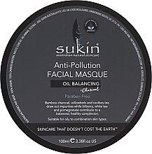 Düfte, Parfümerie und Kosmetik Gesichtsmaske gegen unreine Haut mit Aktivkohle - Sukin Oil Balancing + Charcoal Anti-Pollution Facial Masque