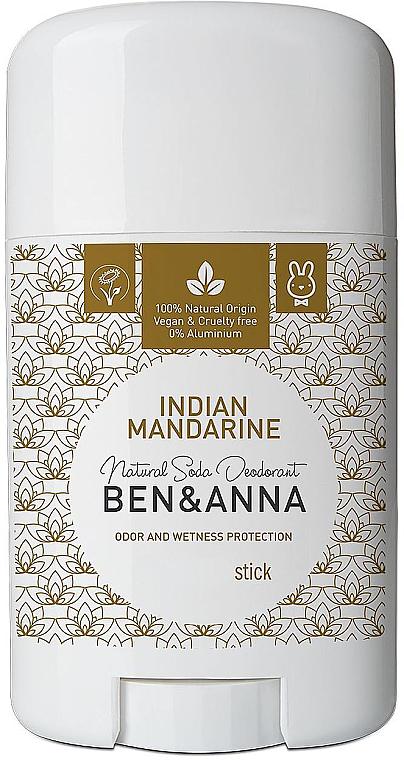 Natürlicher Soda Deostick Indian Mandarine - Ben & Anna Natural Soda Deodorant Indian Mandarine