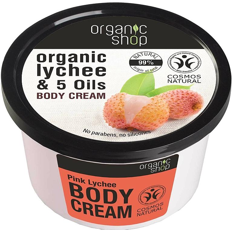 Körpercreme mit Bio Litschi-Extrakt und 5 Ölen - Organic Shop Body Cream Organic Lichee & 5 Oils