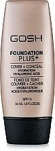 Düfte, Parfümerie und Kosmetik Feuchtigkeitsspendende Grundierung mit Hyaluronsäure LSF 15 - Gosh Foundation Plus SPF 15