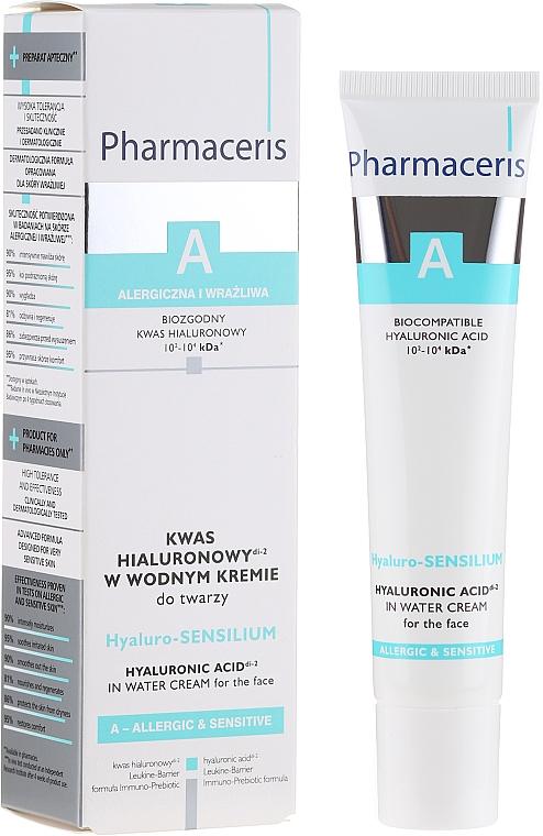 Gesichtscreme mit Hyaluronsäure für empfindliche und allergische Haut - Pharmaceris A Hyaluro-sensilium