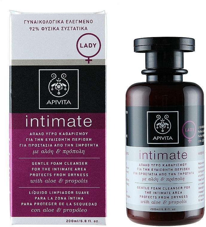 Sanfter Reinigungsschaum für die Intimhygiene mit Aloe und Propolis - Apivita Intimate