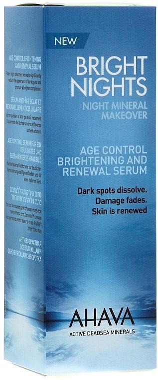 Reichhaltiges und aufhellendes Anti-Aging Nachtserum für das Gesicht - Ahava Time To Smooth Brightening And Renewal Serum