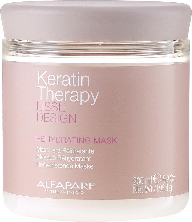 Feuchtigkeitsspendende Haarmaske mit Keratin - Alfaparf Lisse Design Keratin Therapy Rehydrating Mask