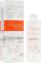 Düfte, Parfümerie und Kosmetik Gesichtstonikum für alle Hauttypen mit Kollagen - Esfolio Collagen Daily Toner