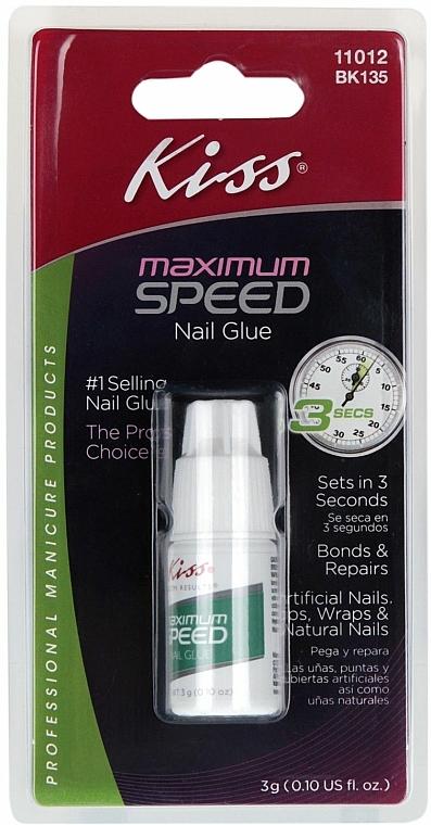 Schnellbindendender Nagelkleber - Kiss Maximum Speed Nail Glue