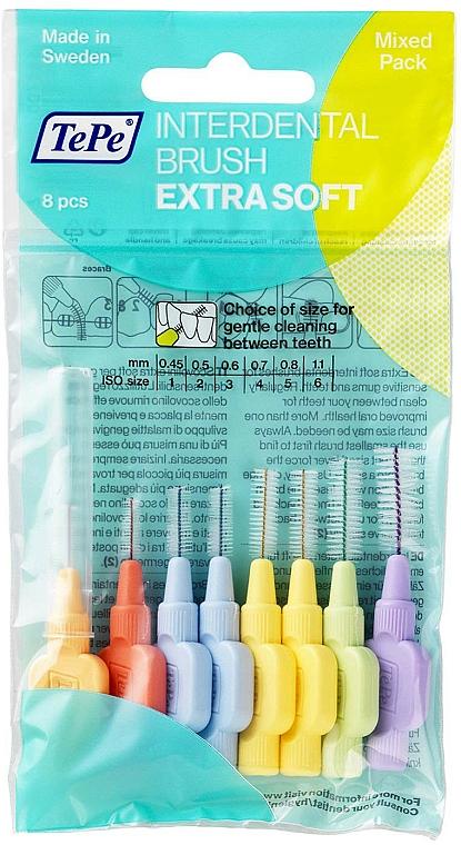 Interdentalbürsten-Set 8 St. - TePe Interdental Extra Soft Brushes — Bild N1