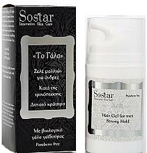 Düfte, Parfümerie und Kosmetik Haargel für Männer gegen Haarausfall mit Bio Eselsmilch Starker Halt - Sostar Strong Hold Hair Gel For Men
