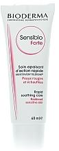 Düfte, Parfümerie und Kosmetik Beruhigende und feuchtigkeitsspendende Gesichtscreme für empfindliche und sehr trockene Haut - Bioderma Sensibio Forte Reddened Sensitive Skin