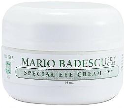 Düfte, Parfümerie und Kosmetik Pflegende, glättende und feuchtigkeitsspendende Augenkonturcreme mit Vitamin A und E - Mario Badescu Special Eye Cream V