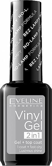 Gelnagellack - Eveline Cosmetics Vinyl Gel 2In1 Gel+Top Coat
