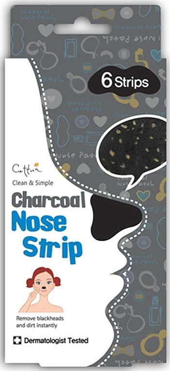 Nasenporenstereifen mit Aktivkohle - Cettua Charcoal Nose Strip