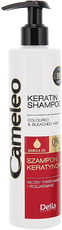 Shampoo mit Keratin für gefärbtes Haar oder Strähnen - Delia Cameleo Shampoo