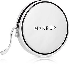 Düfte, Parfümerie und Kosmetik Kosmetiktasche weiß (ohne Inhalt) - MakeUp Ø16 x T: 4 cm