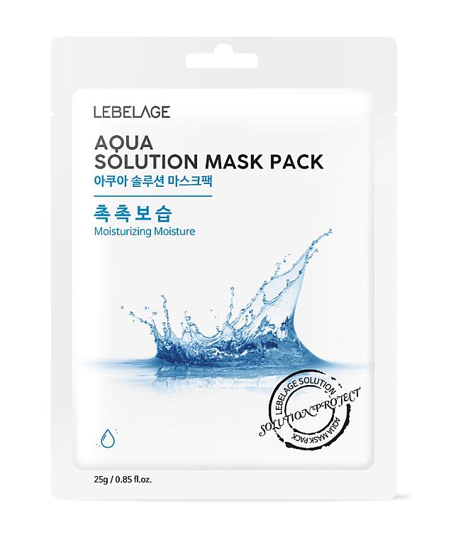 Tuchmaske mit tiefem Meerwasser - Lebelage Aqua Solution Mask