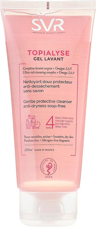 Reinigungsgel für Körper, Gesicht und Haare für die ganze Familie - SVR Topialyse Gel Lavant