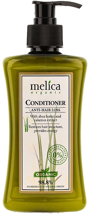 Haarspülung gegen Haarausfall mit Kalmus und Sheabutter - Melica Organic Anti-Hair Loss Conditioner