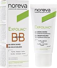 Düfte, Parfümerie und Kosmetik Korrigierende und mattierende BB Gesichtscreme für dunkle Haut gegen Unvollkommenheiten - Noreva Laboratoires Exfoliac BB Cream Anti-imperfection Tinted Care