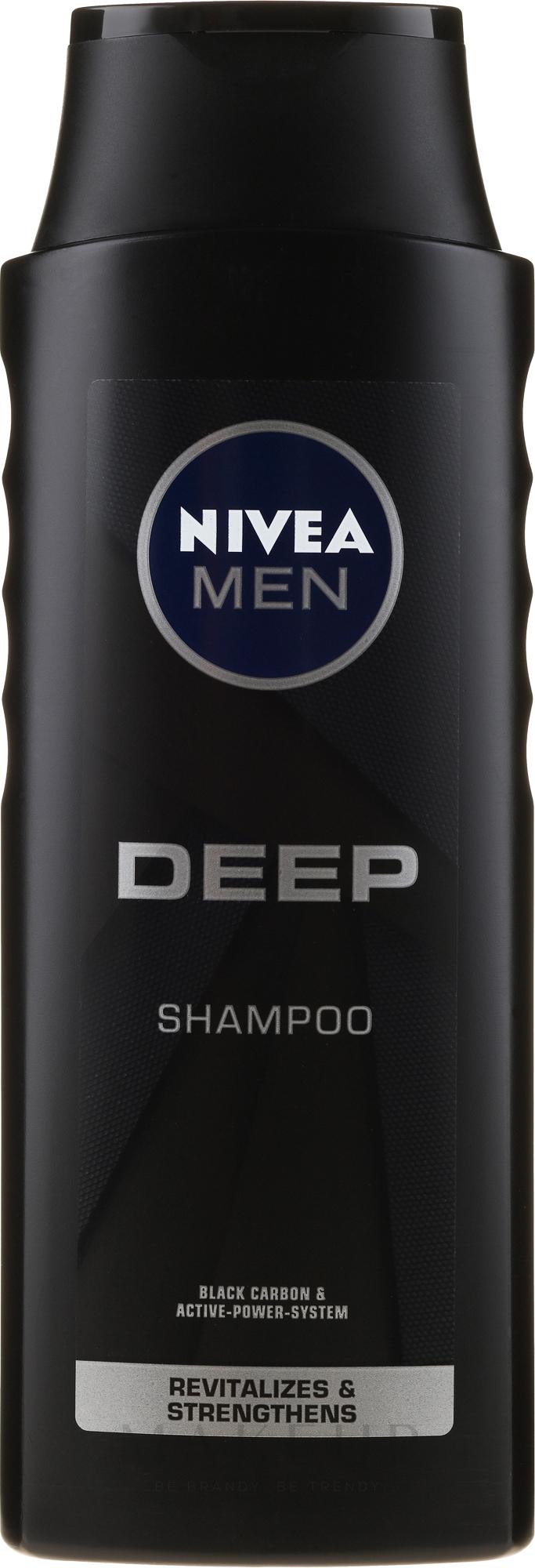 Revitalisierendes Shampoo für Männer mit Elektrolyten und Aktivkohle - Nivea Men Deep Revitalizing Shampoo — Bild 400 ml