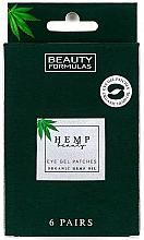 Düfte, Parfümerie und Kosmetik Gel-Patches für die Partie unter den Augen - Beauty Formulas Hemp Beauty Eye Gel Patches